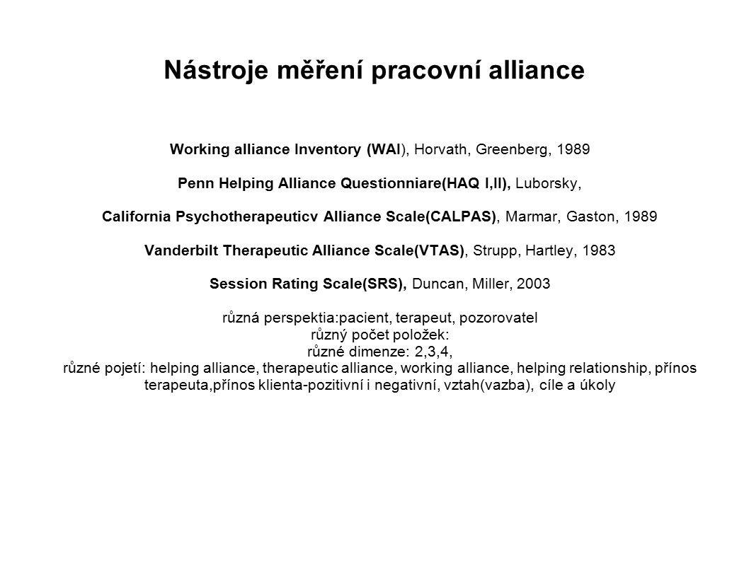 Nástroje měření pracovní alliance