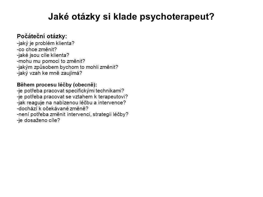 Jaké otázky si klade psychoterapeut