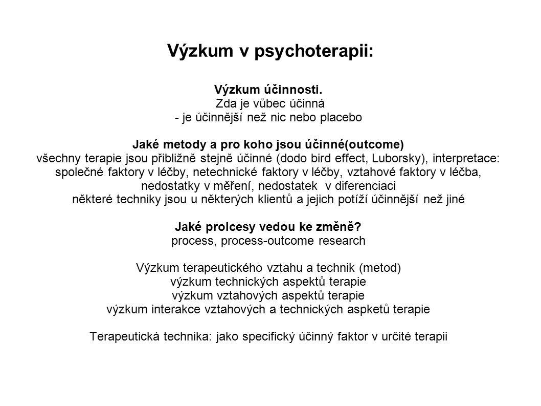 Výzkum v psychoterapii: