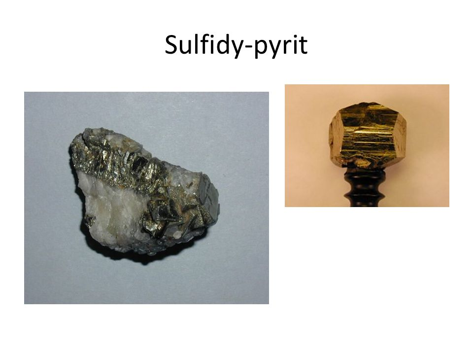 Sulfidy-pyrit