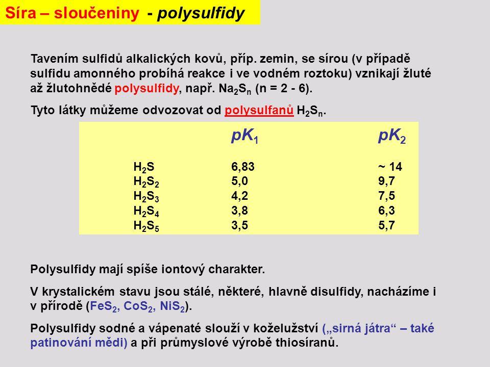 Síra – sloučeniny - polysulfidy