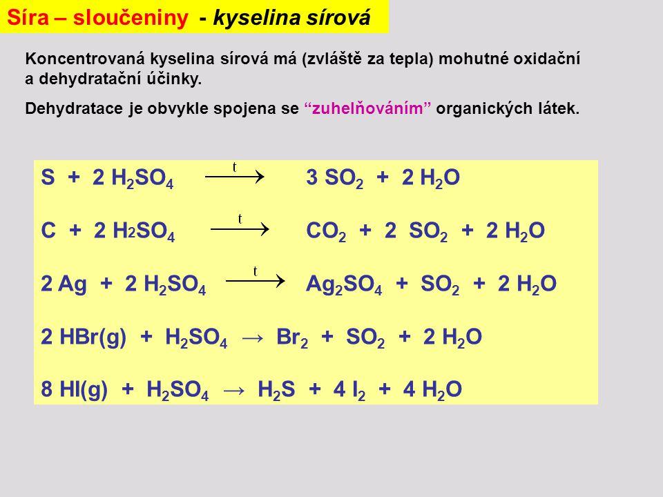 Síra – sloučeniny - kyselina sírová