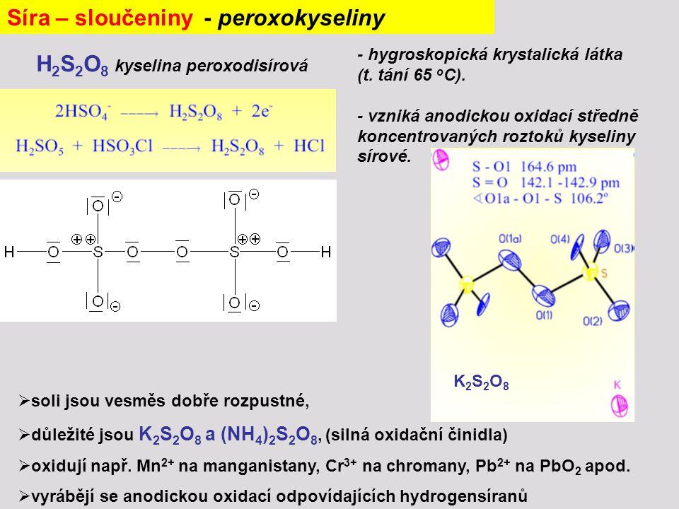 Síra – sloučeniny - peroxokyseliny