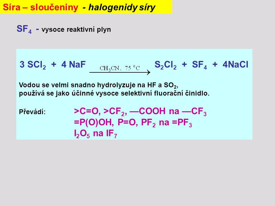 Síra – sloučeniny - halogenidy síry