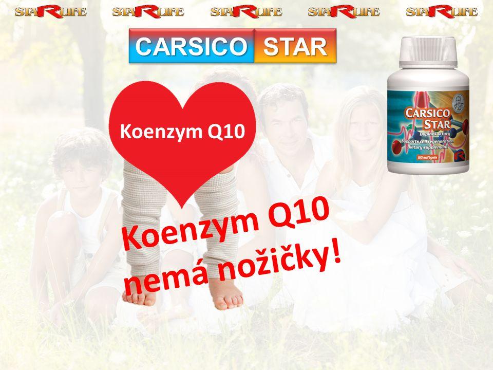 CARSICO STAR Koenzym Q10 Koenzym Q10 nemá nožičky!
