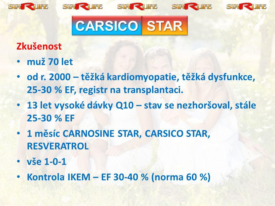 CARSICO STAR Zkušenost muž 70 let