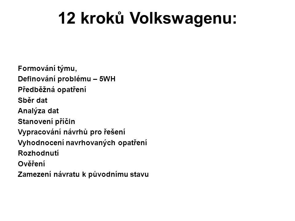 12 kroků Volkswagenu: Formování týmu, Definování problému – 5WH