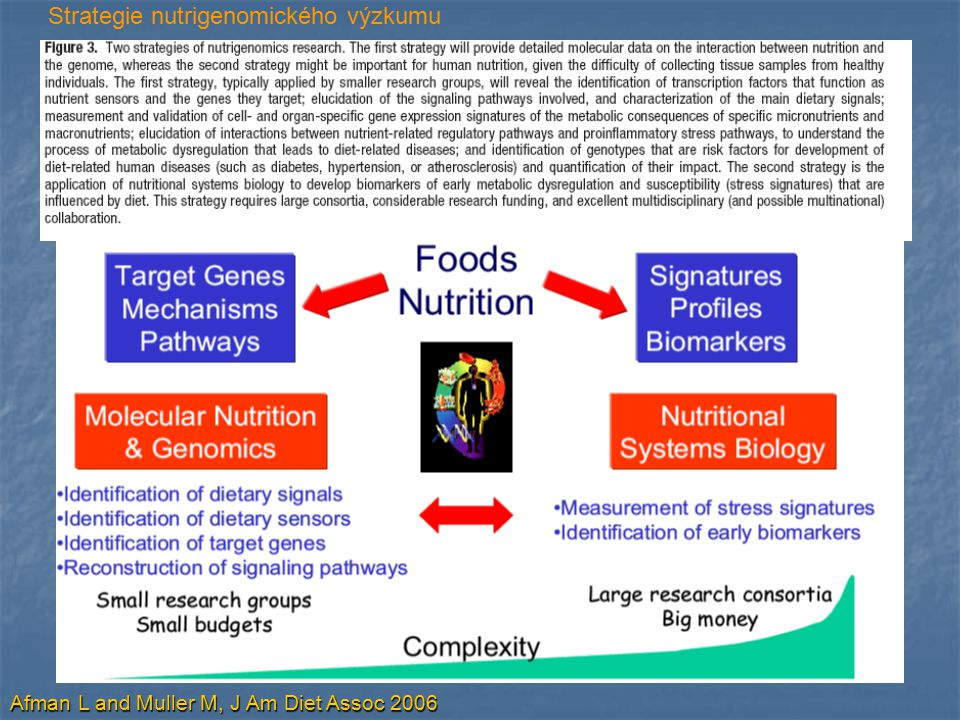 Strategie nutrigenomického výzkumu