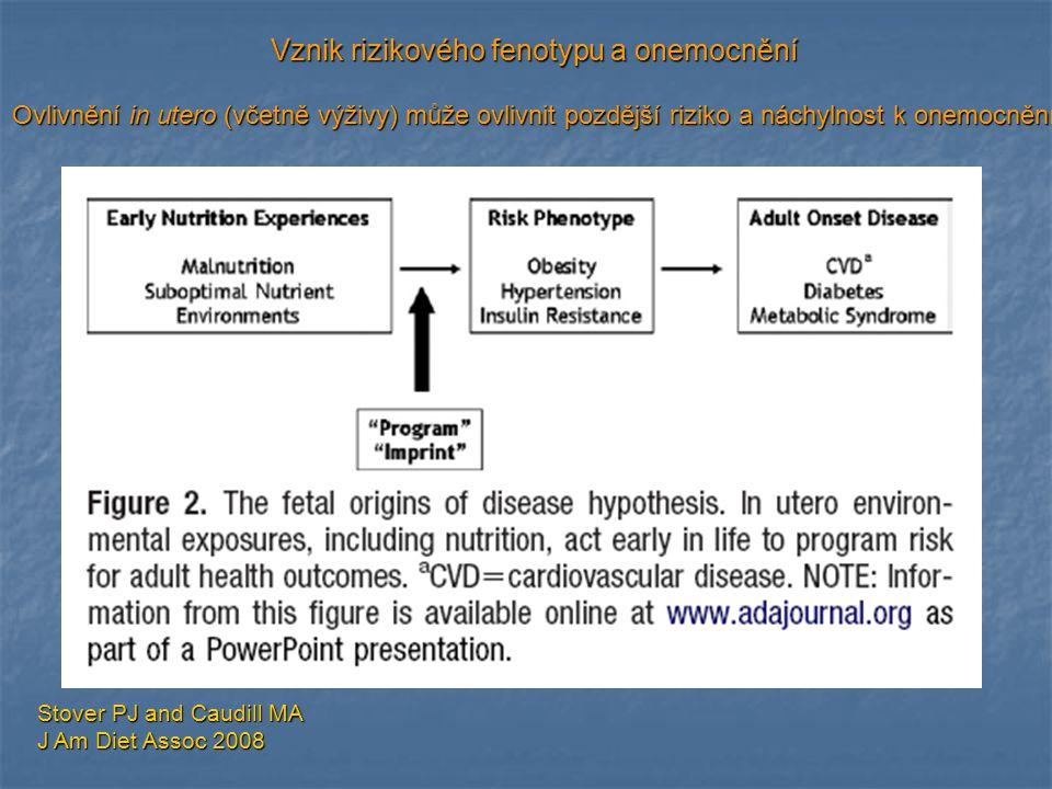 Vznik rizikového fenotypu a onemocnění