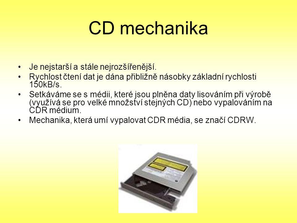 CD mechanika Je nejstarší a stále nejrozšířenější.