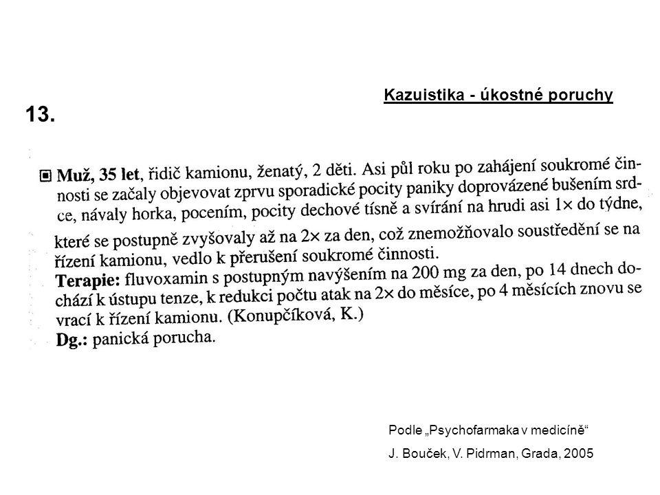 """13. Kazuistika - úkostné poruchy Podle """"Psychofarmaka v medicíně"""