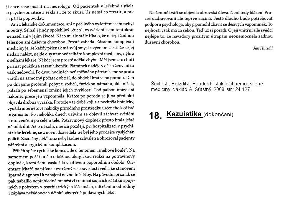 18. Kazuistika (dokončení)
