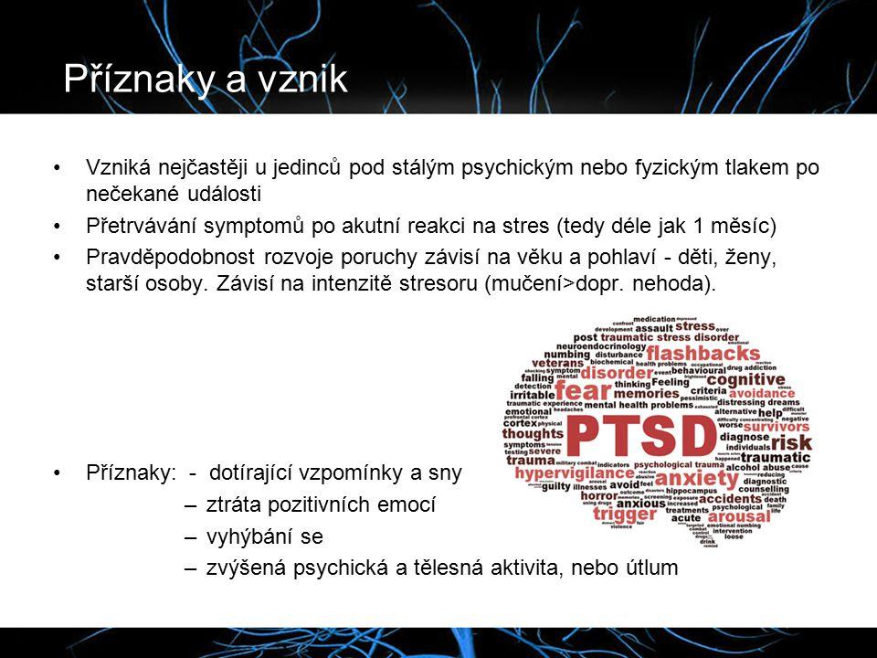 Příznaky a vznik Vzniká nejčastěji u jedinců pod stálým psychickým nebo fyzickým tlakem po nečekané události.