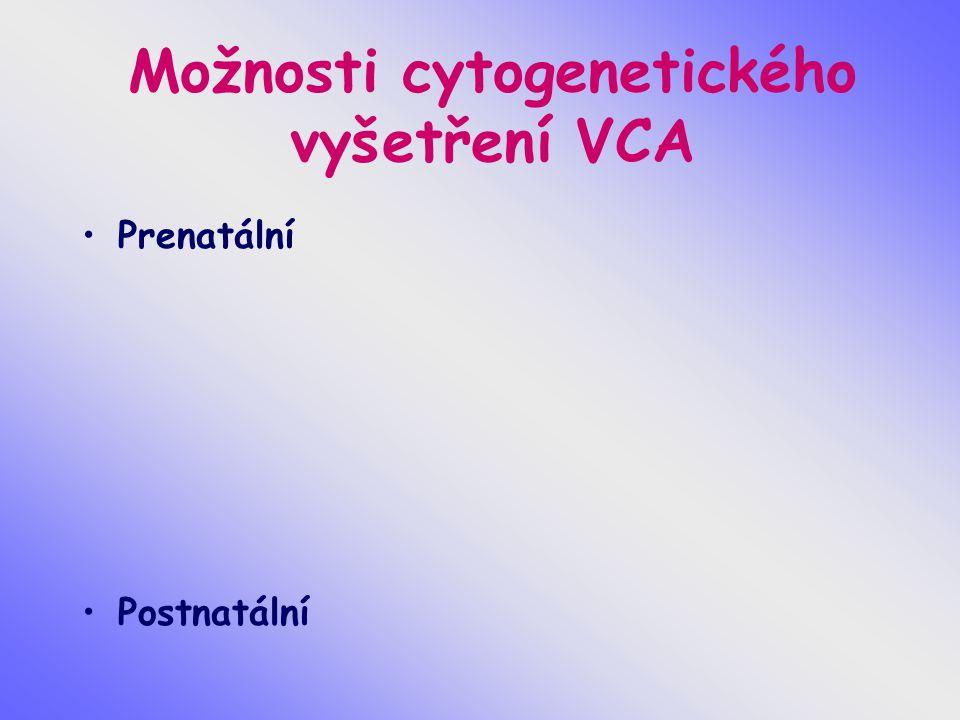 Možnosti cytogenetického vyšetření VCA