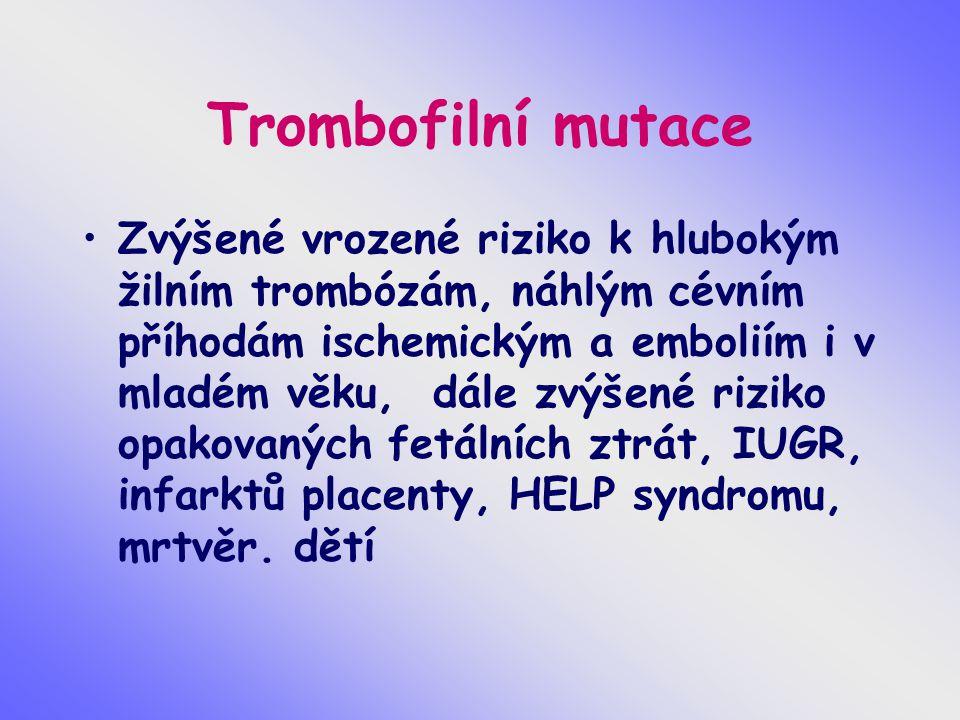Trombofilní mutace