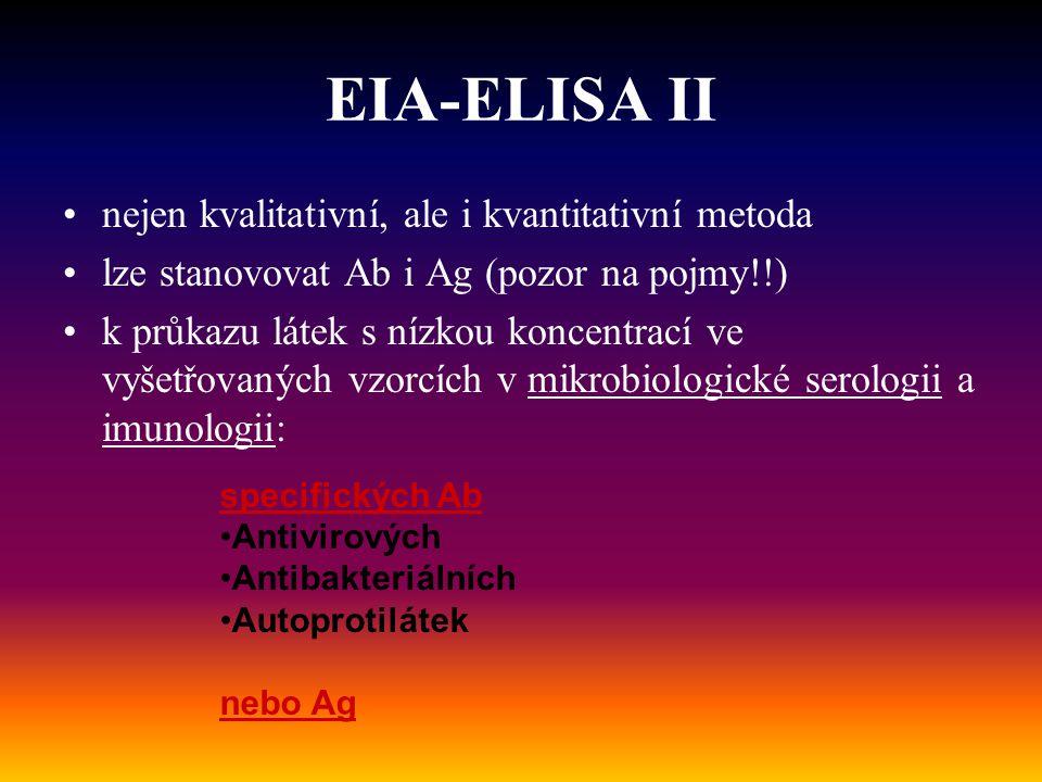 EIA-ELISA II nejen kvalitativní, ale i kvantitativní metoda