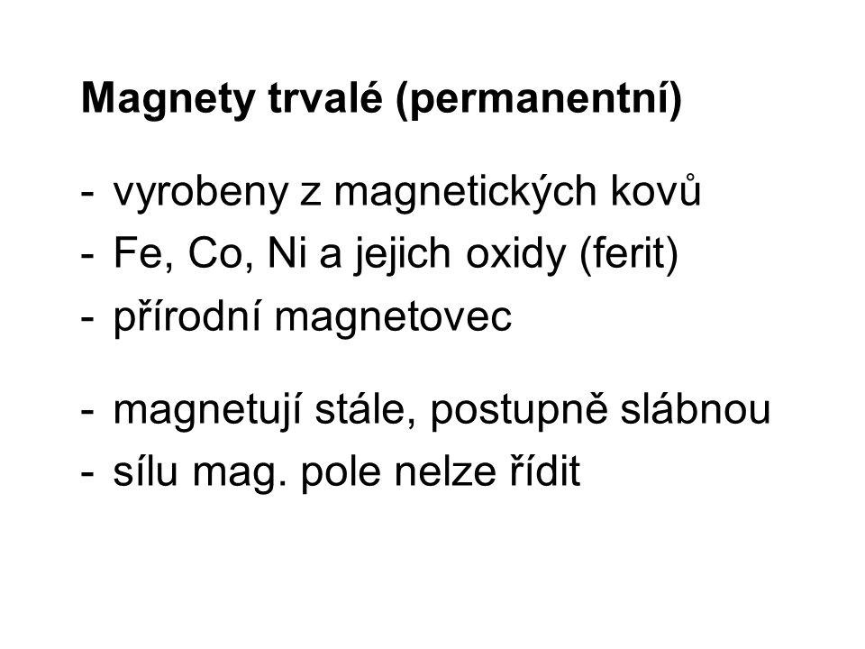 Magnety trvalé (permanentní)
