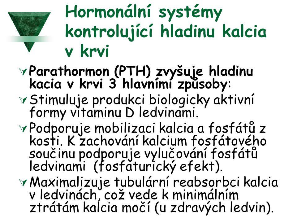 Hormonální systémy kontrolující hladinu kalcia v krvi