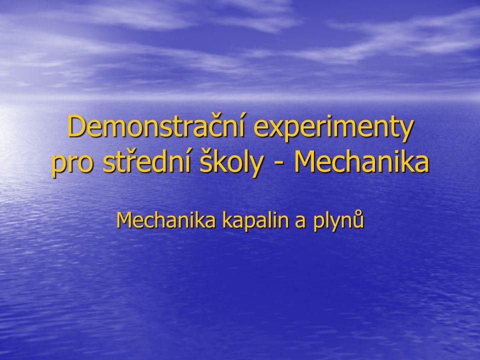 Demonstrační experimenty pro střední školy - Mechanika