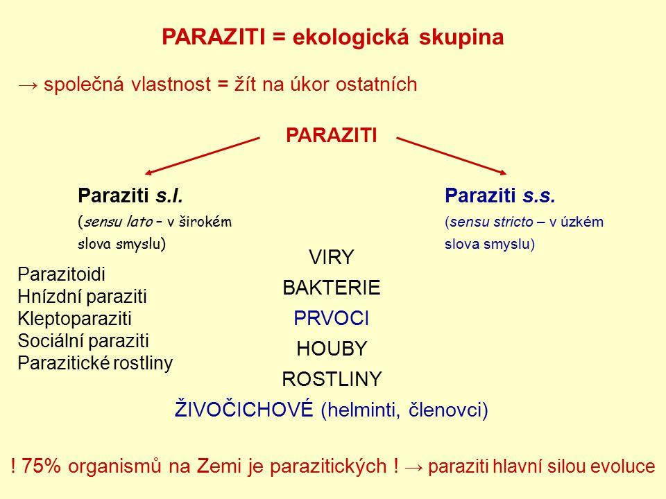 PARAZITI = ekologická skupina