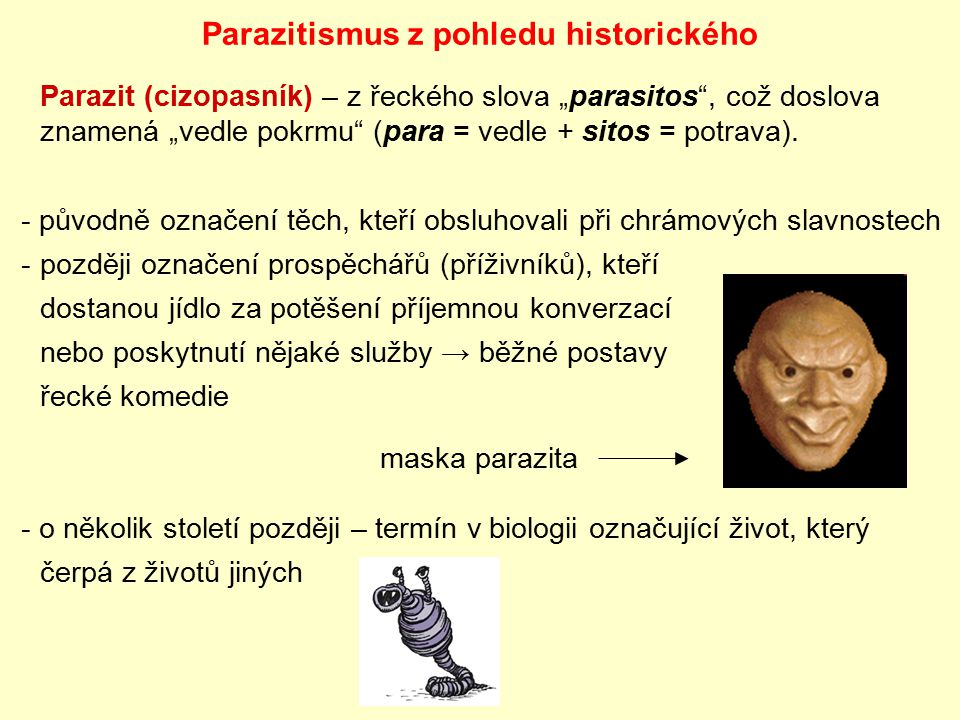 Parazitismus z pohledu historického