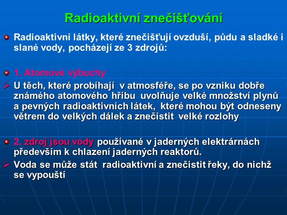 Radioaktivní znečišťování
