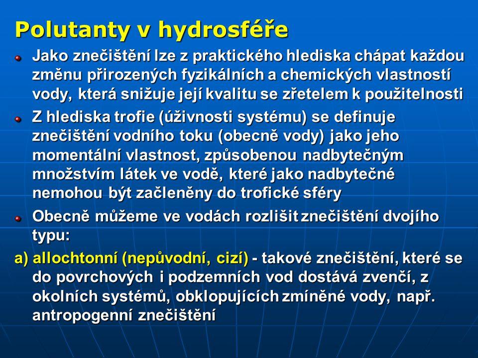 Polutanty v hydrosféře