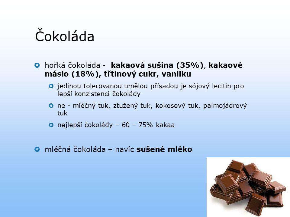 Čokoláda hořká čokoláda - kakaová sušina (35%), kakaové máslo (18%), třtinový cukr, vanilku.