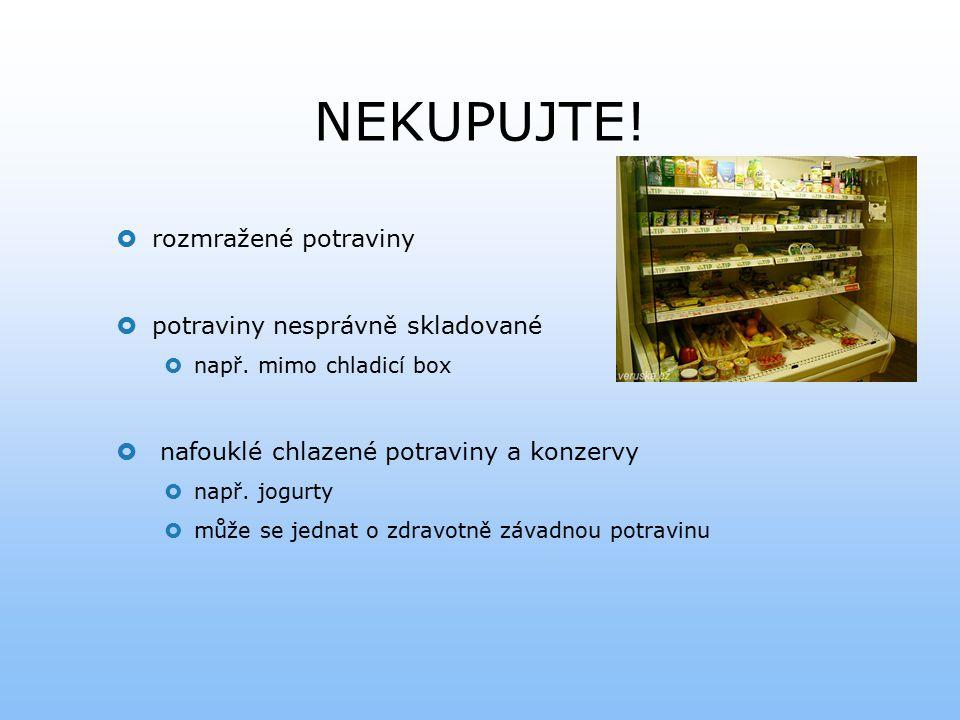 NEKUPUJTE! rozmražené potraviny potraviny nesprávně skladované