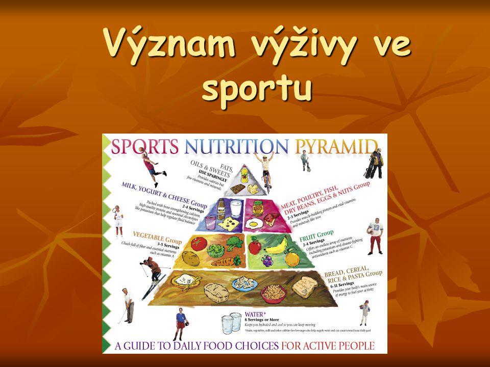 Význam výživy ve sportu