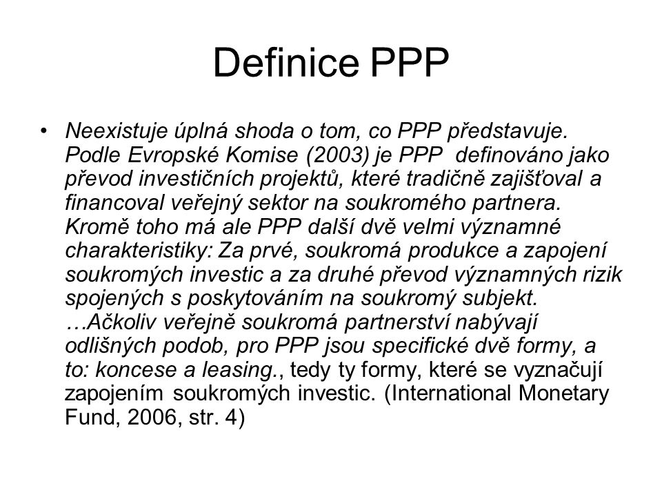 Definice PPP