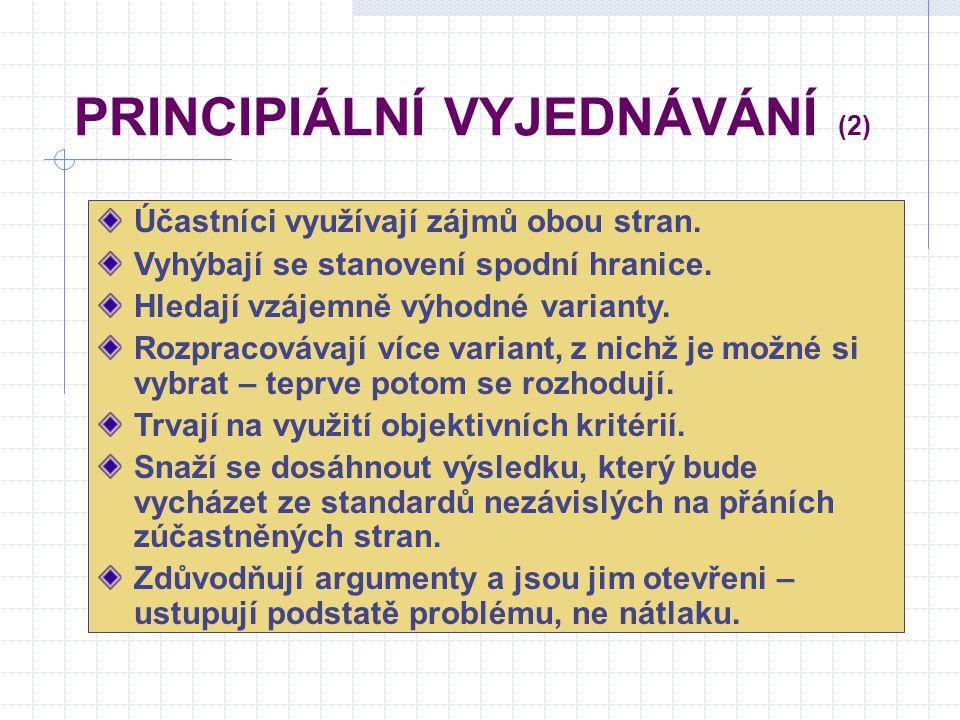 PRINCIPIÁLNÍ VYJEDNÁVÁNÍ (2)