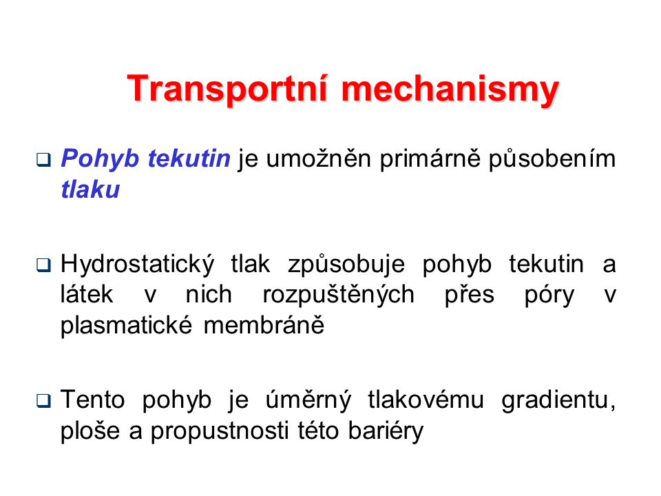 Transportní mechanismy
