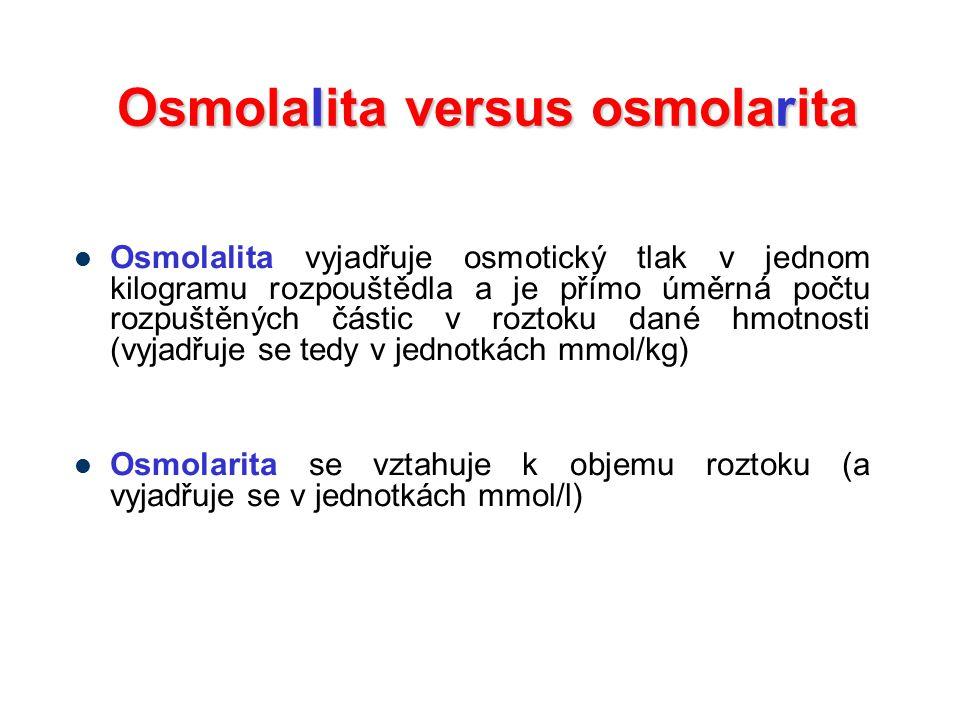 Osmolalita versus osmolarita