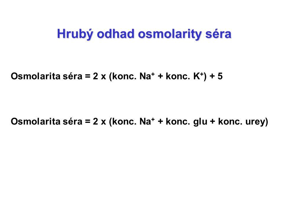 Hrubý odhad osmolarity séra