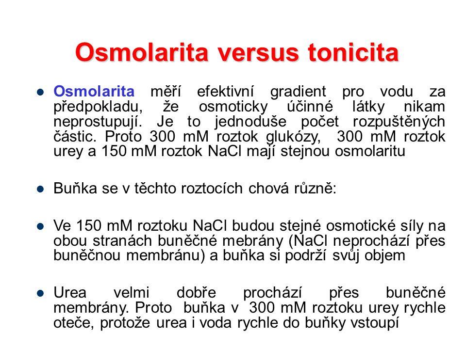 Osmolarita versus tonicita