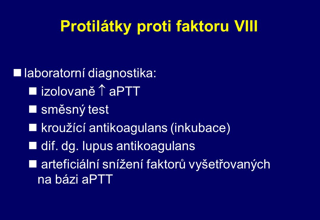 Protilátky proti faktoru VIII