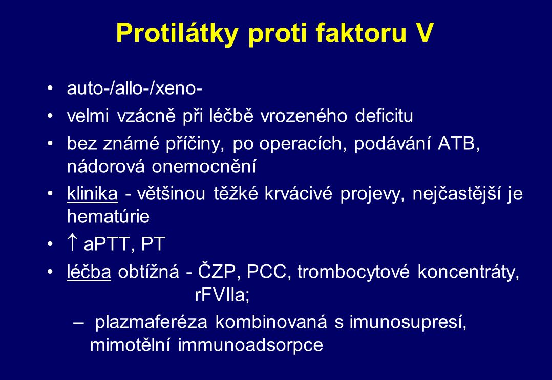 Protilátky proti faktoru V