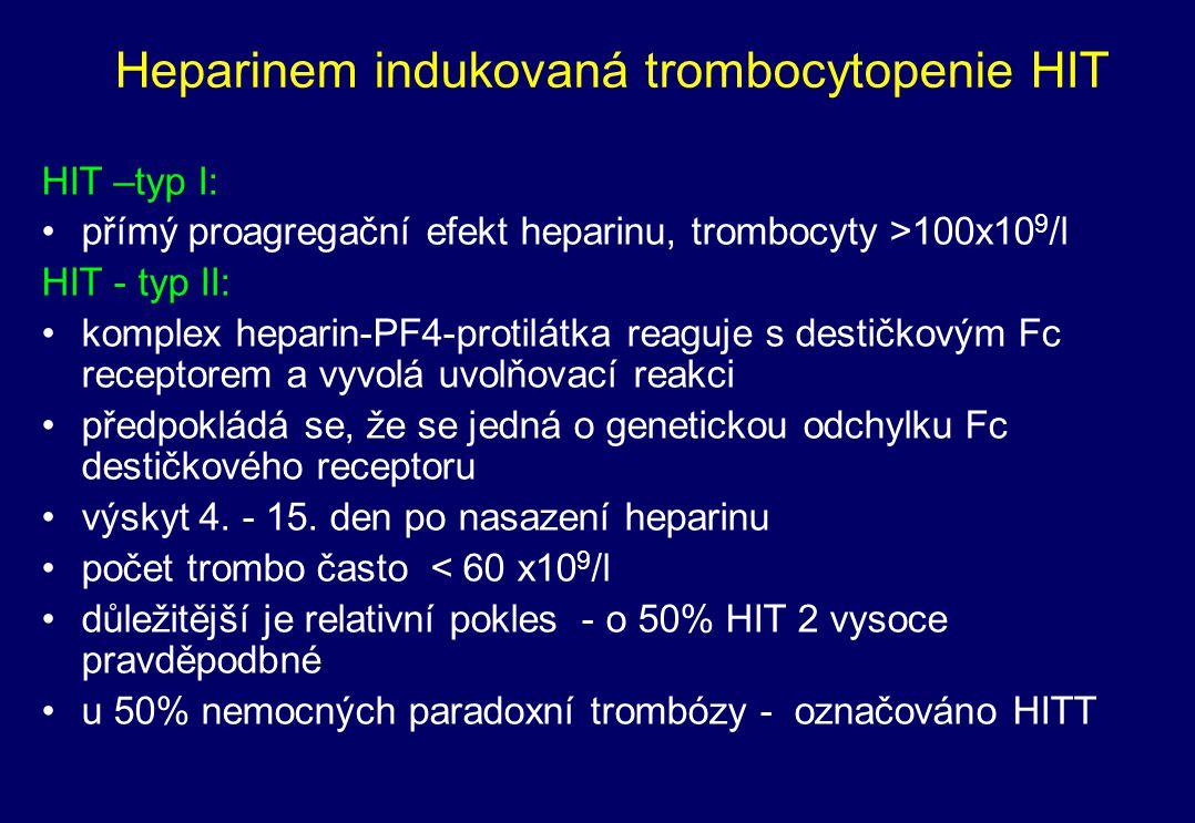 Heparinem indukovaná trombocytopenie HIT