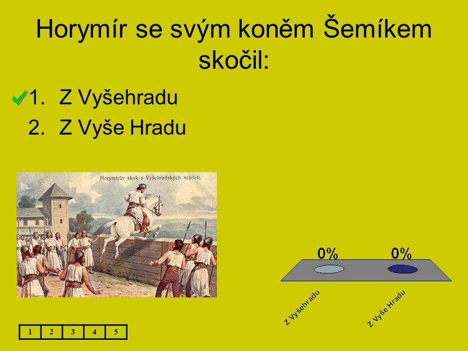 Horymír se svým koněm Šemíkem skočil: