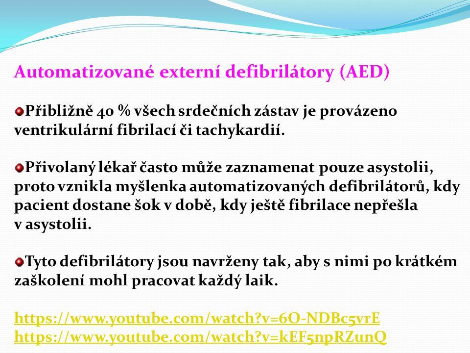 Automatizované externí defibrilátory (AED)