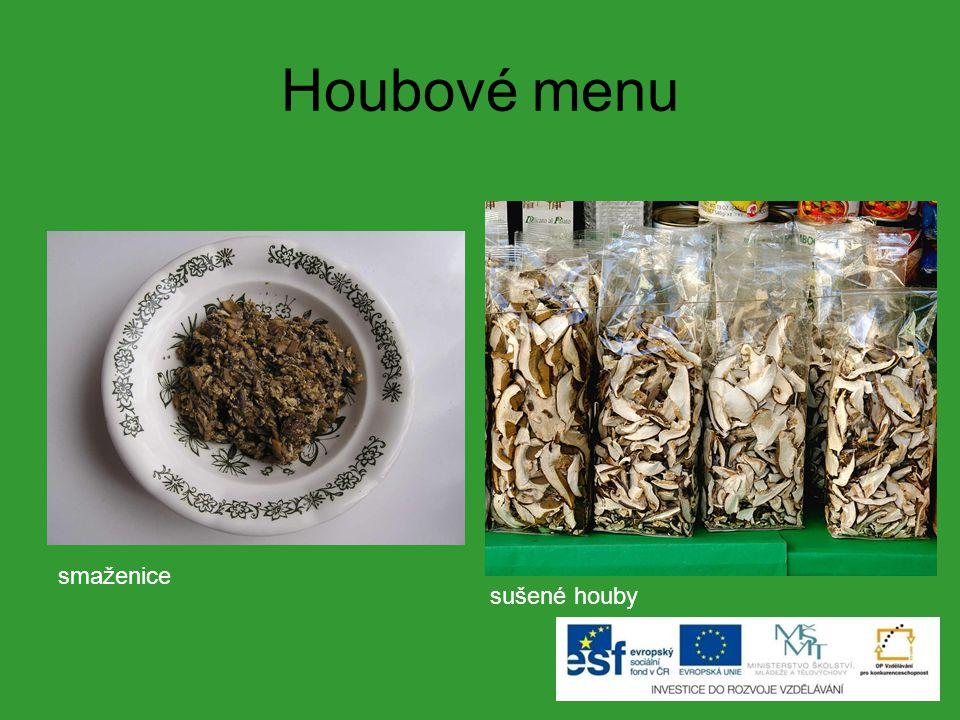 Houbové menu smaženice sušené houby