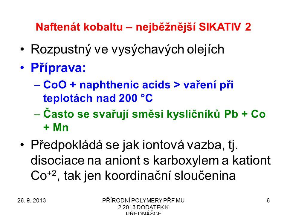 Naftenát kobaltu – nejběžnější SIKATIV 2