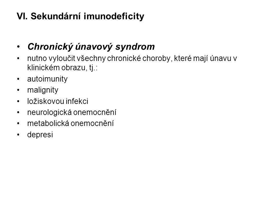 VI. Sekundární imunodeficity