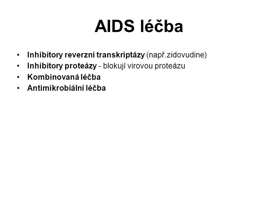 AIDS léčba Inhibitory reverzní transkriptázy (např.zidovudine)