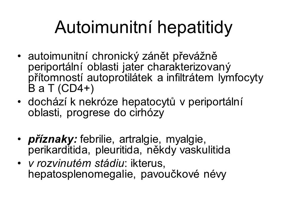 Autoimunitní hepatitidy
