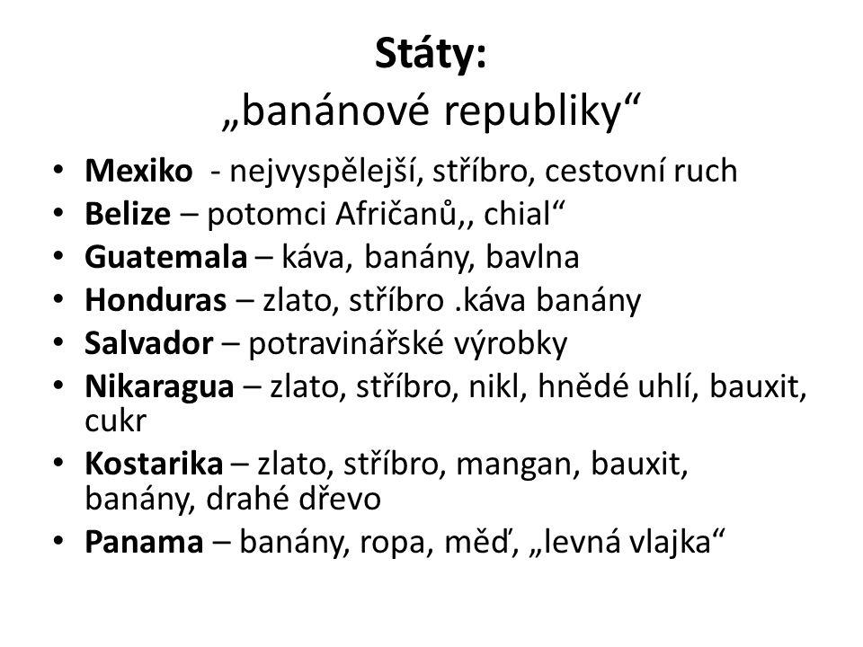 """Státy: """"banánové republiky"""