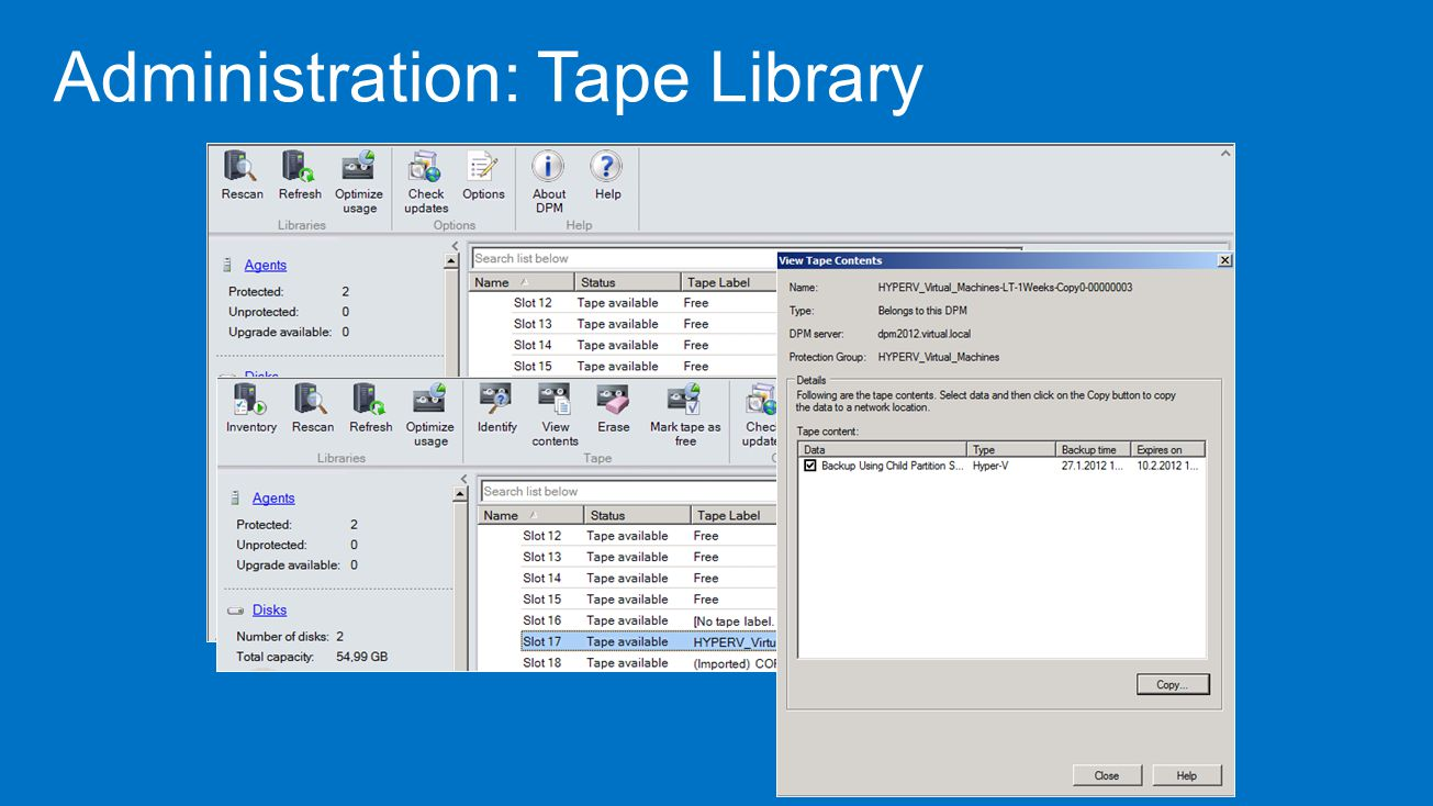Administration: Tape Library