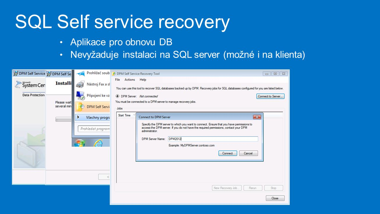 SQL Self service recovery