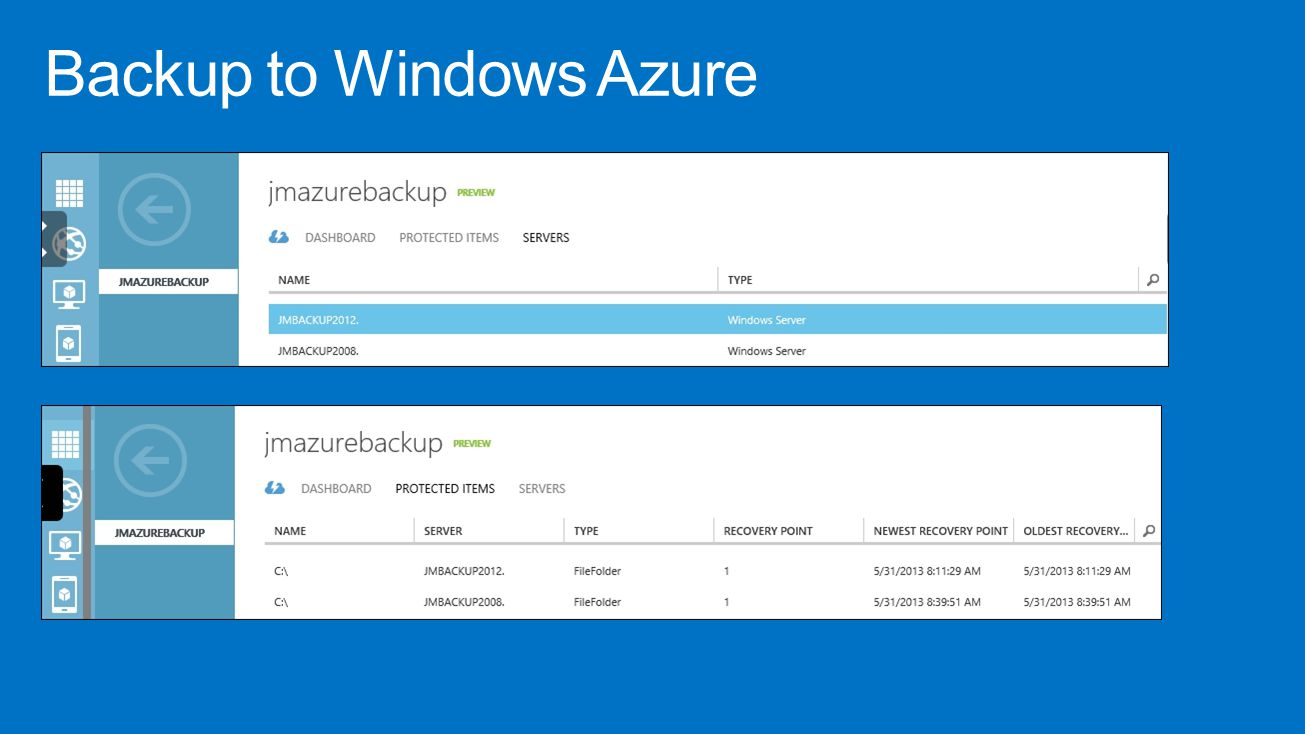 Backup to Windows Azure